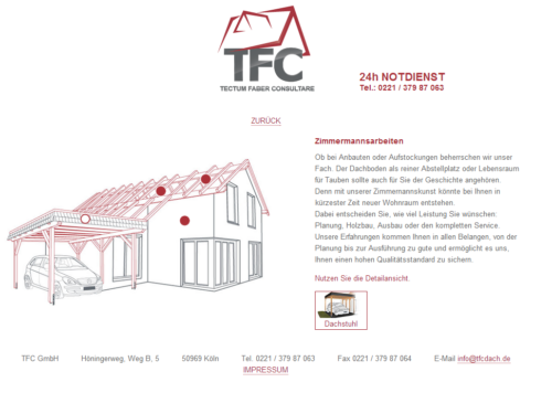 TFC Dach GmbH - Desktop Ansicht