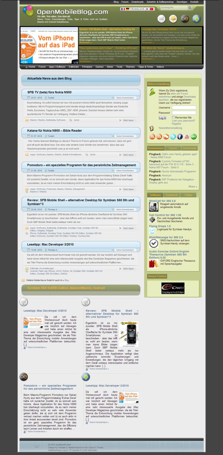 Symbian60.mobi - Startseite
