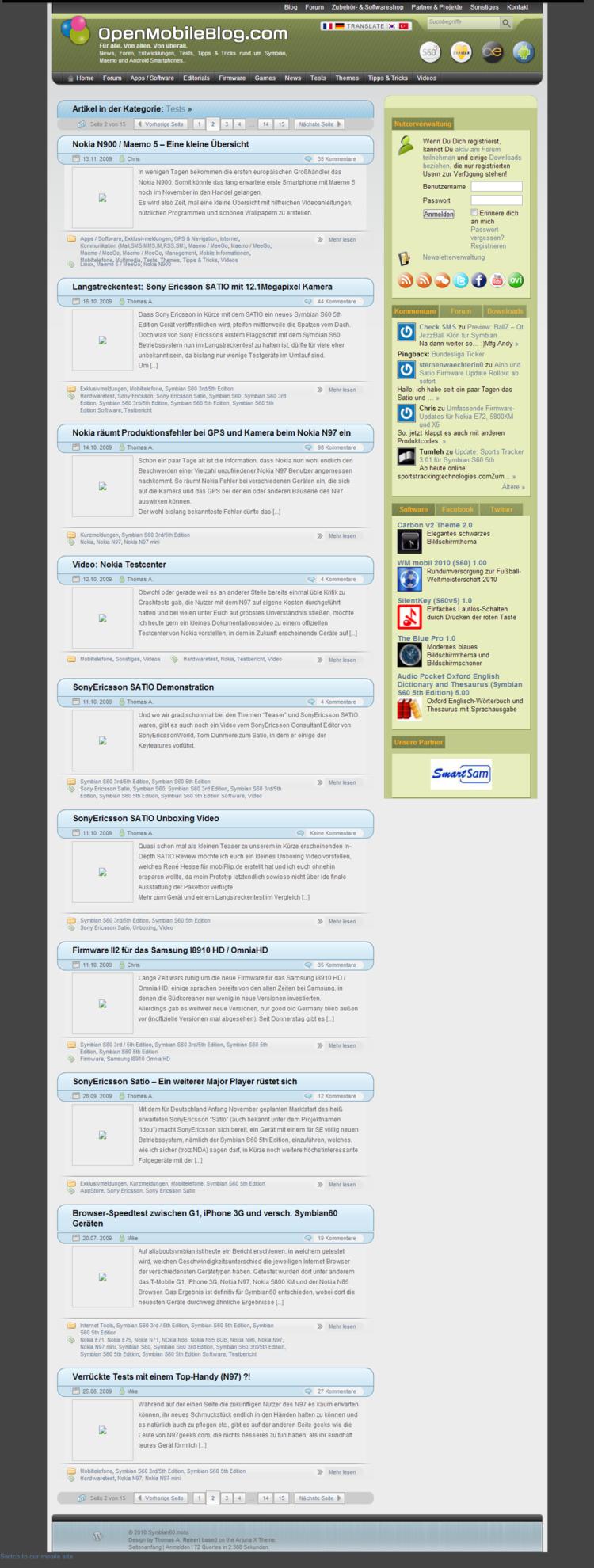 Symbian60.mobi - Tests