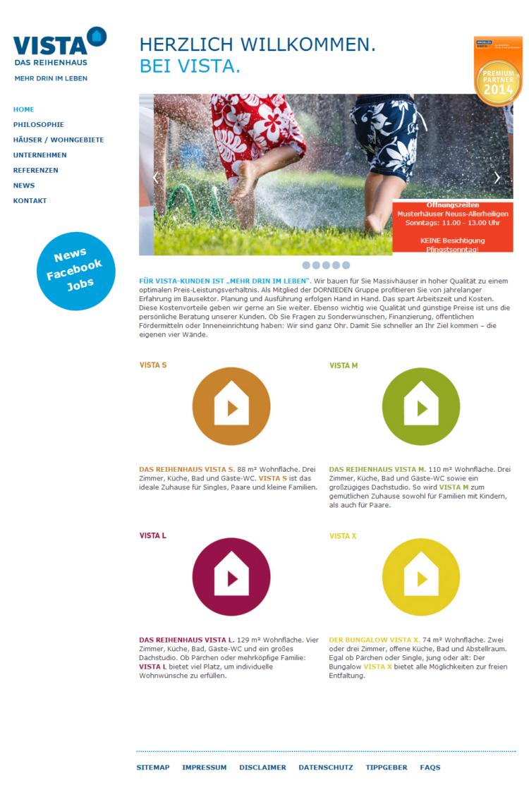 Vista Reihenhaus - Homepage