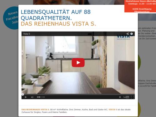 Vista Reihenhaus - Videomodal für Haustyp S