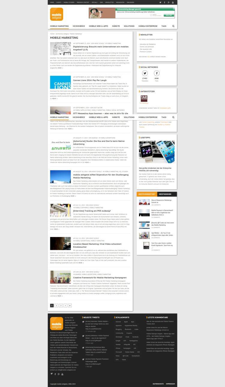 Mobile-Zeitgeist.com Archivseite