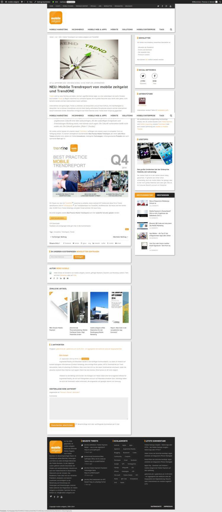 Mobile-Zeitgeist.com Startseite