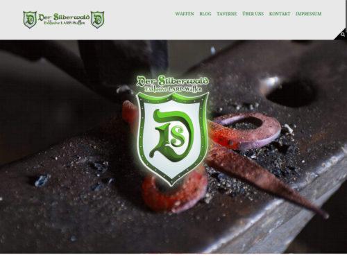 der-silberwald.de Startseite / Desktopansicht