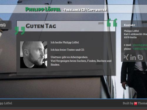PhilippLoeffel.com Startseite