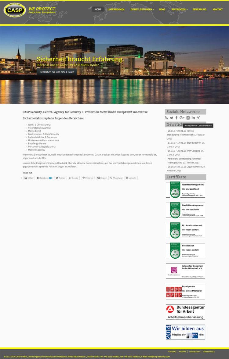 CASP Security GmbH - Startseite