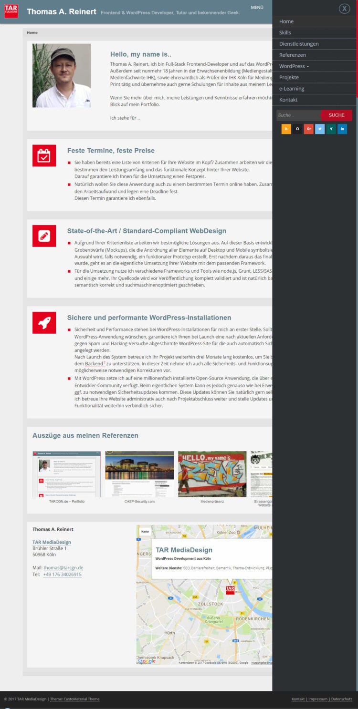 TARCGN MediaDesign - Frontpage mit Menü