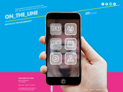 On_the_Line - Junge Oper Stuttgart - Homescreen