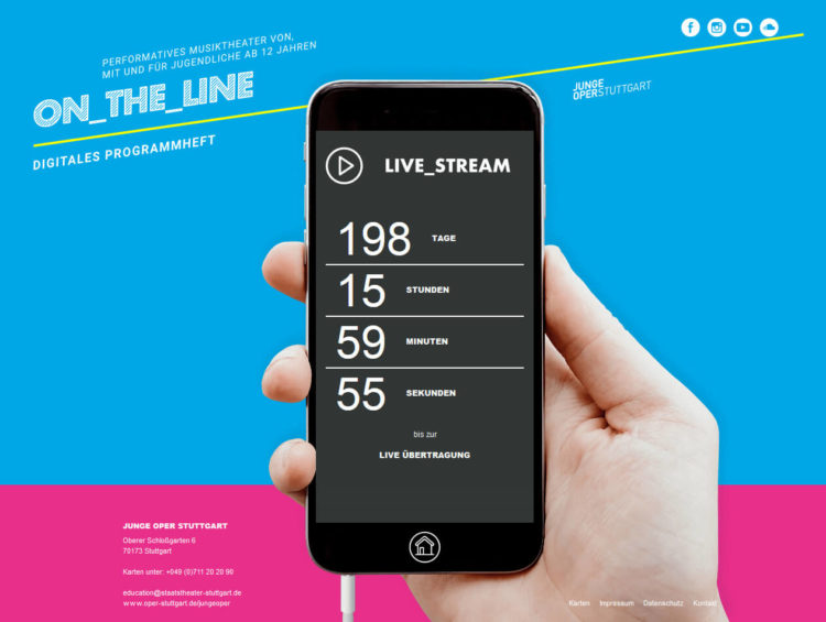 On_the_Line - Junge Oper Stuttgart - Livestream