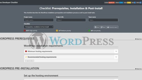 WordPress-Developer-Checklist