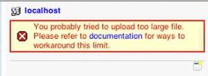 "phpMyAdmin Error ""Upload too large"""