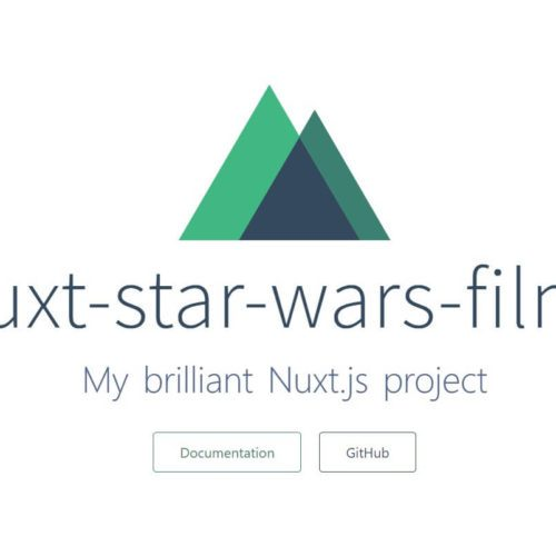 nuxt-star-wars-films - Tutorial Teil #1